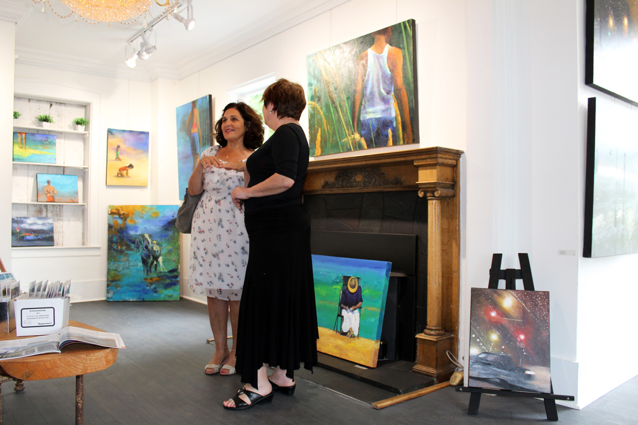 Maryse Casol and Rosina Bucci, Hors Cadre Art Exhibition