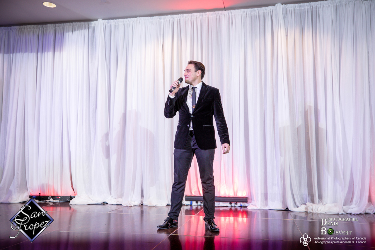 Mickael Casol singing Let It Snow at the San Tropez Winter Bal 2017