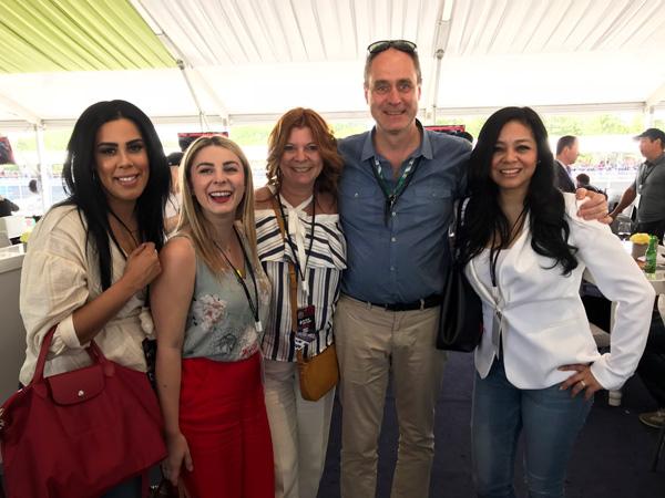 Cristina Hernandez, Marieke Tremblay, André Ryan et leur fille, Noriko Casol