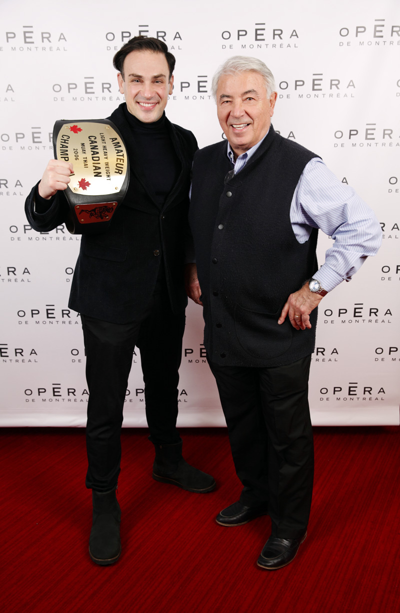 Mickaël Casol and fan, Champion, Opéra de Montréal