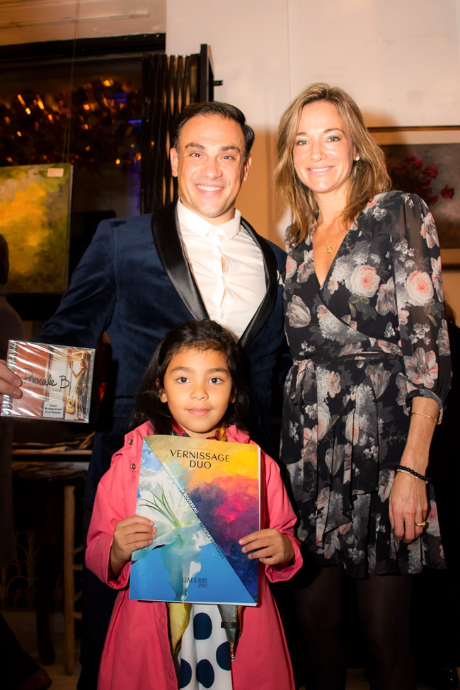 Valentina and Mickael Casol with Pascale Bourbeau, Art Exhibition, Galerie 203, Montreal