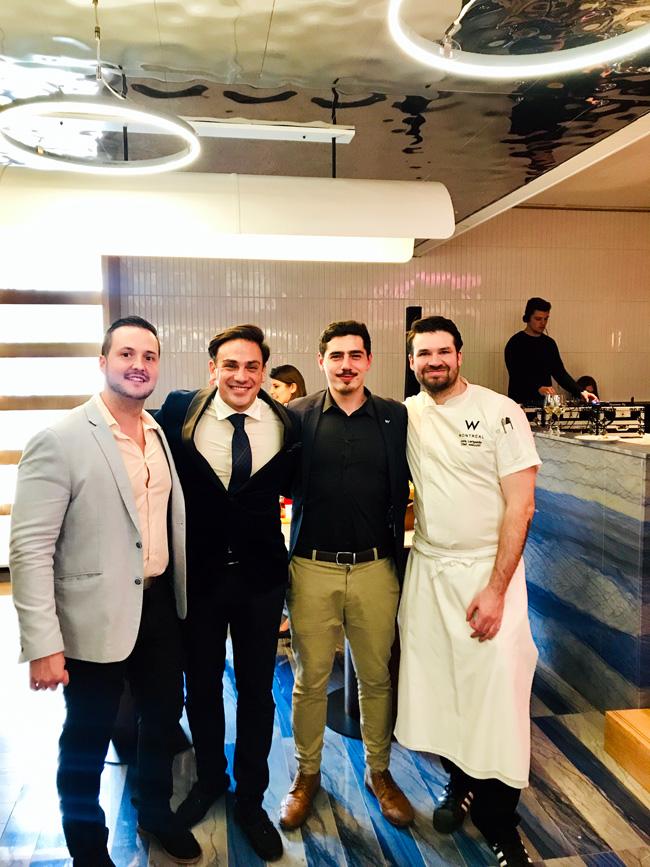 Samuel Robert, Mickaël Casol, Paul Cadars, Joris Larigaldie, Tbsp Restaurant, W Montreal