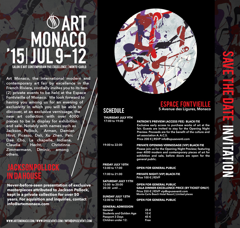 Art Monaco 2015 Invitation
