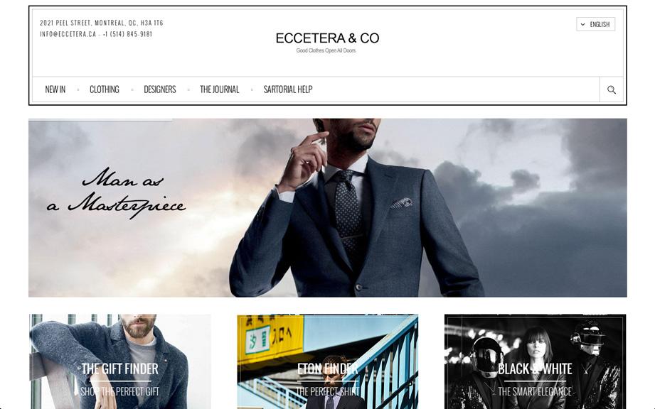 Eccetera - Men's Store in Montreal, Canada