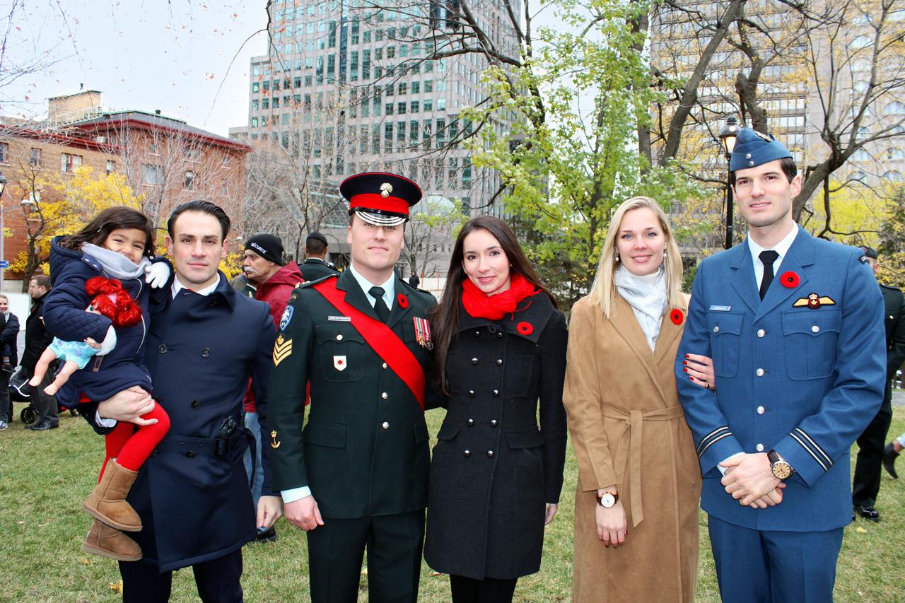 "Valentina "" Mickael Casol, Sergeant Yves Butterworth & friend, Captain Antoine Labranche and Anne-Marie Côté."