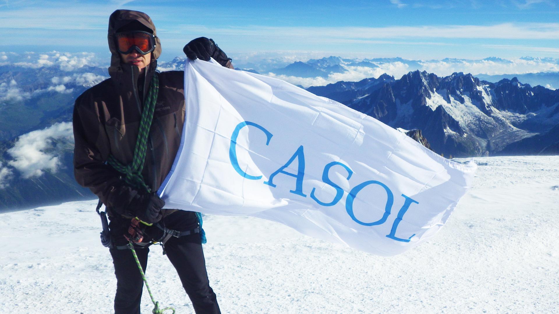 Capitaine Antoine Labranche, sommet du Mont-Blanc, Alpes, France, Août 2016