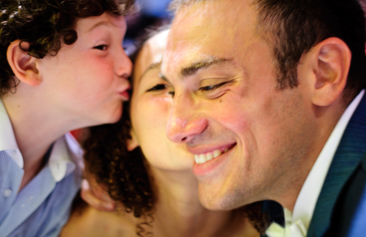 Mickael Casol with kids, Wedding on July 17, 2010