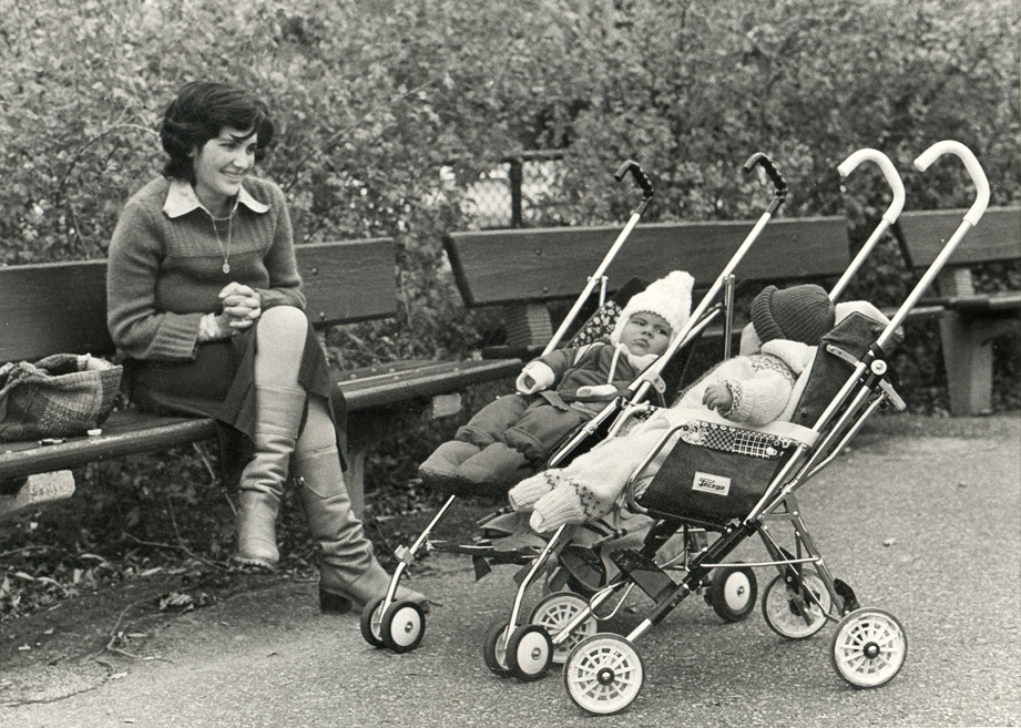 Maryse Casol, her son Mickael Casol and a friend in 1982, Montreal, Canada.