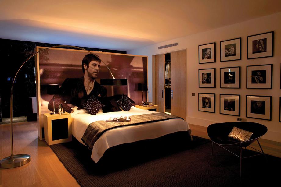 Al Pacino Scarface bedroom, Villa Cap Ferrat, Cote d'Azur, France