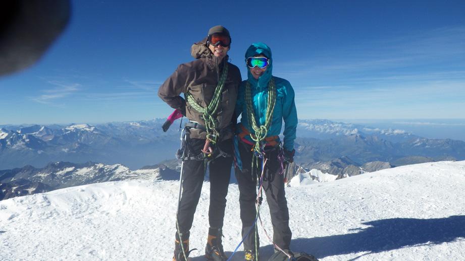 Antoine Labranche and Alina Zagaytova, Mont-Blanc, France, 2016