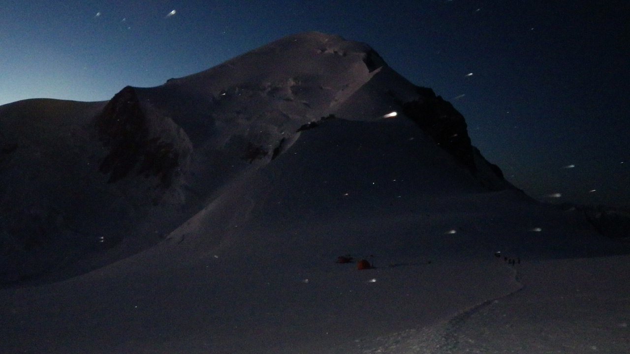 Antoine Labranche, Mont-Blanc at night, Alps, France, 2016