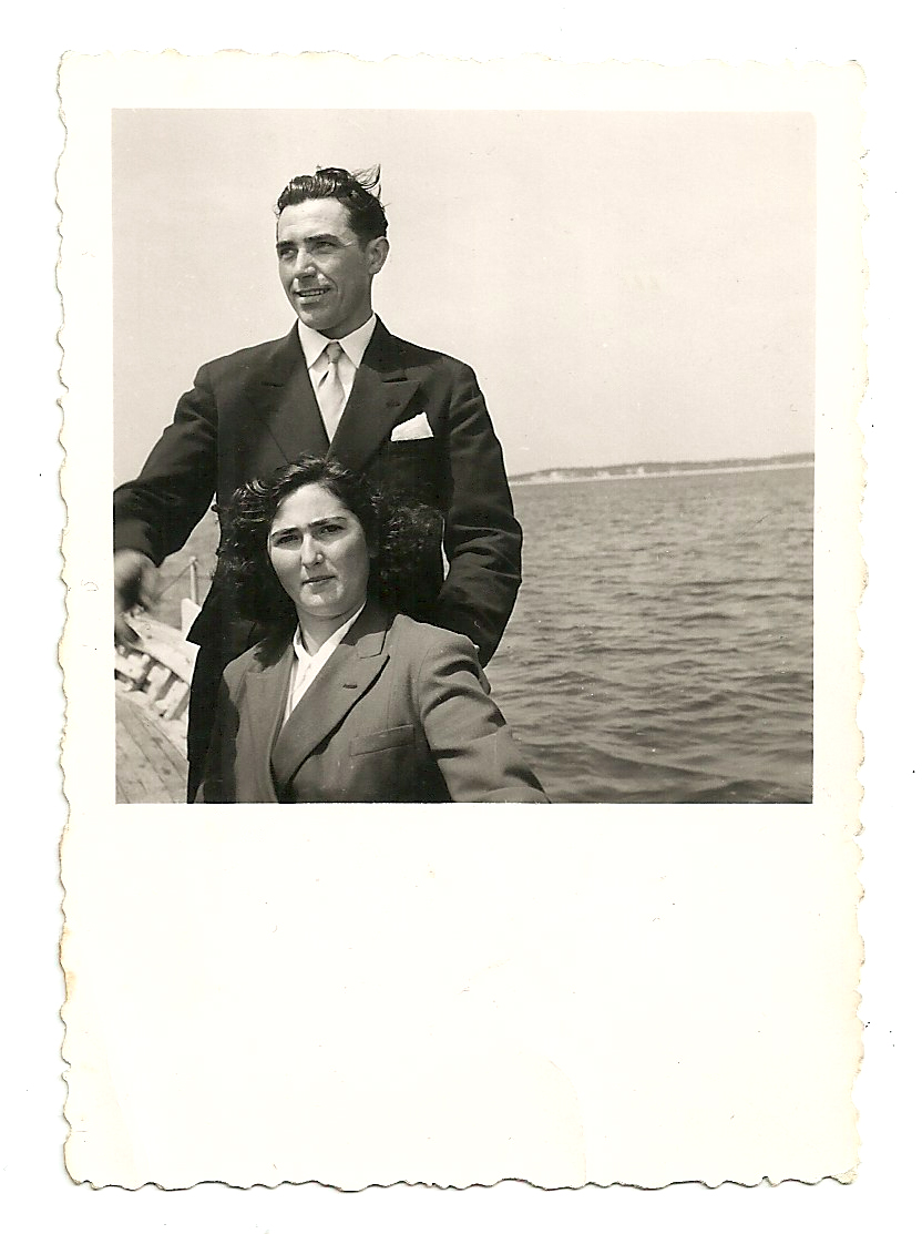 Mario and Edith Casol, 1954, Arcachon, France