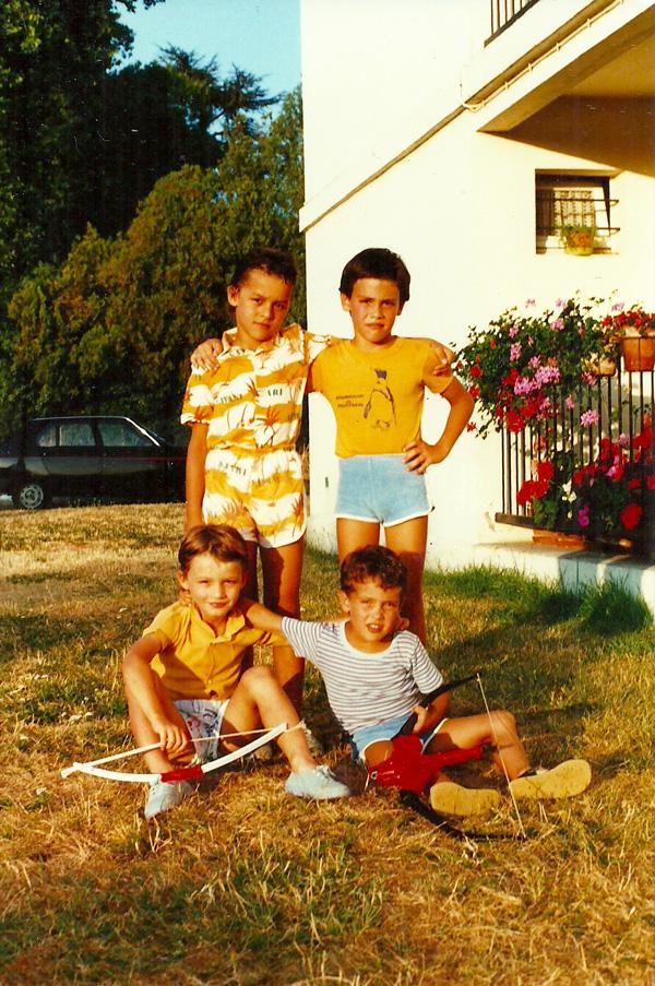 Mickael Casol, Nicolas Casol et amis, Libourne, France, Été 1986
