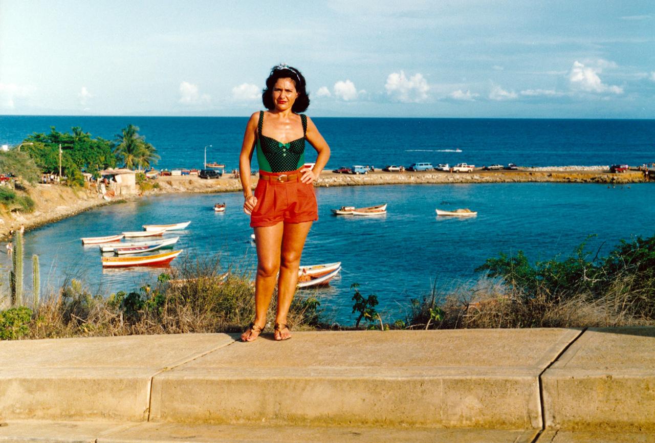 Maryse Casol en vacances sur l'Ile de Margarita au Vénézuela en 1993