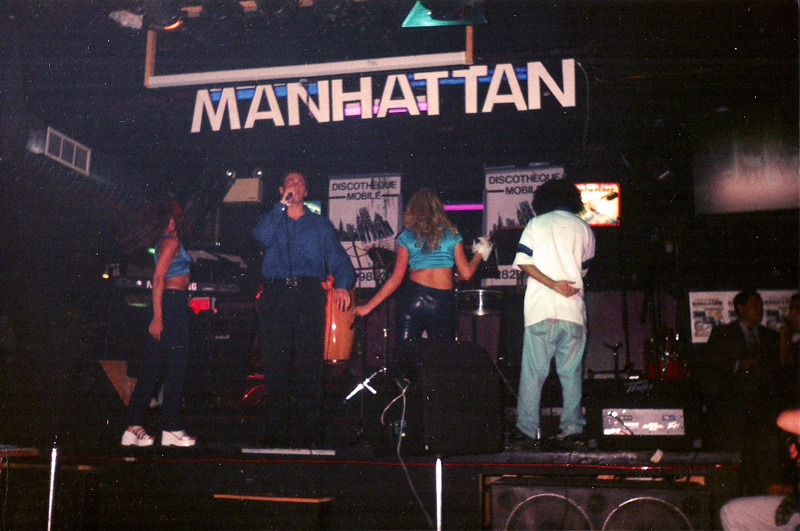 Mickael Casol show at the Manhattan Disco Club, Teleritmo Tv, 1996