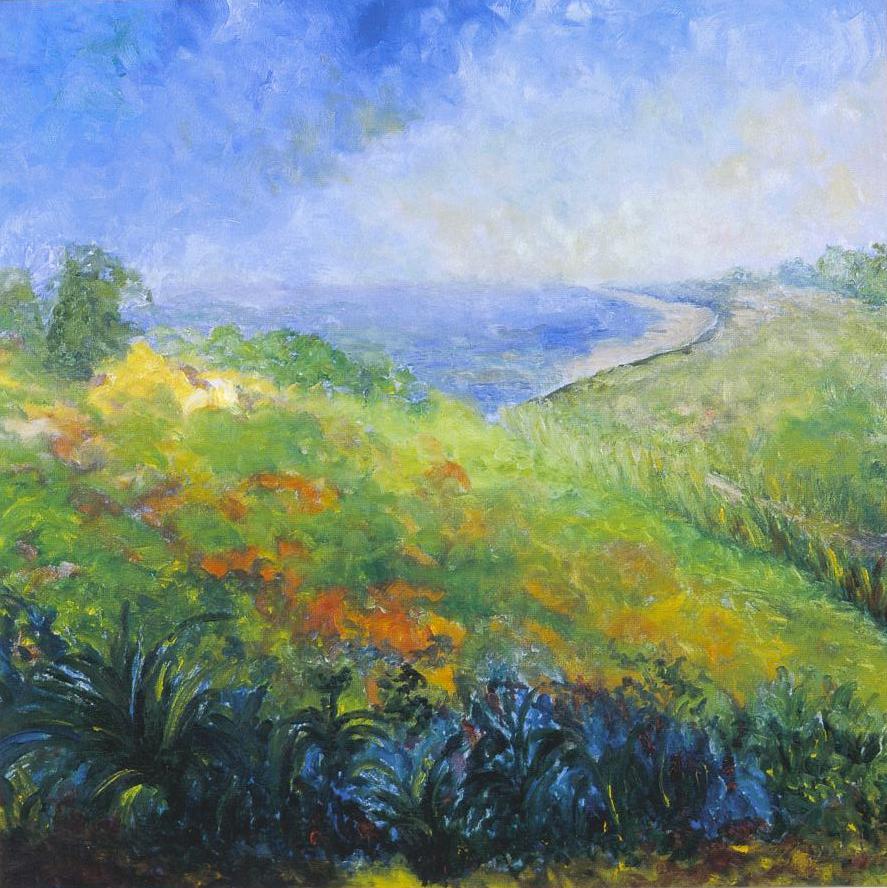 Maryse Casol, Collines aux Environs de Ports-Vendre, huile sur toile, 2002
