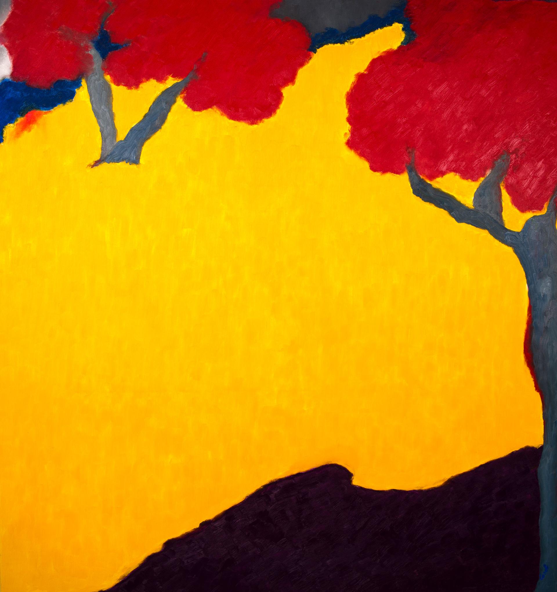 Maryse Casol, painting Ceci N'est Pas Un Arbre III, 2010