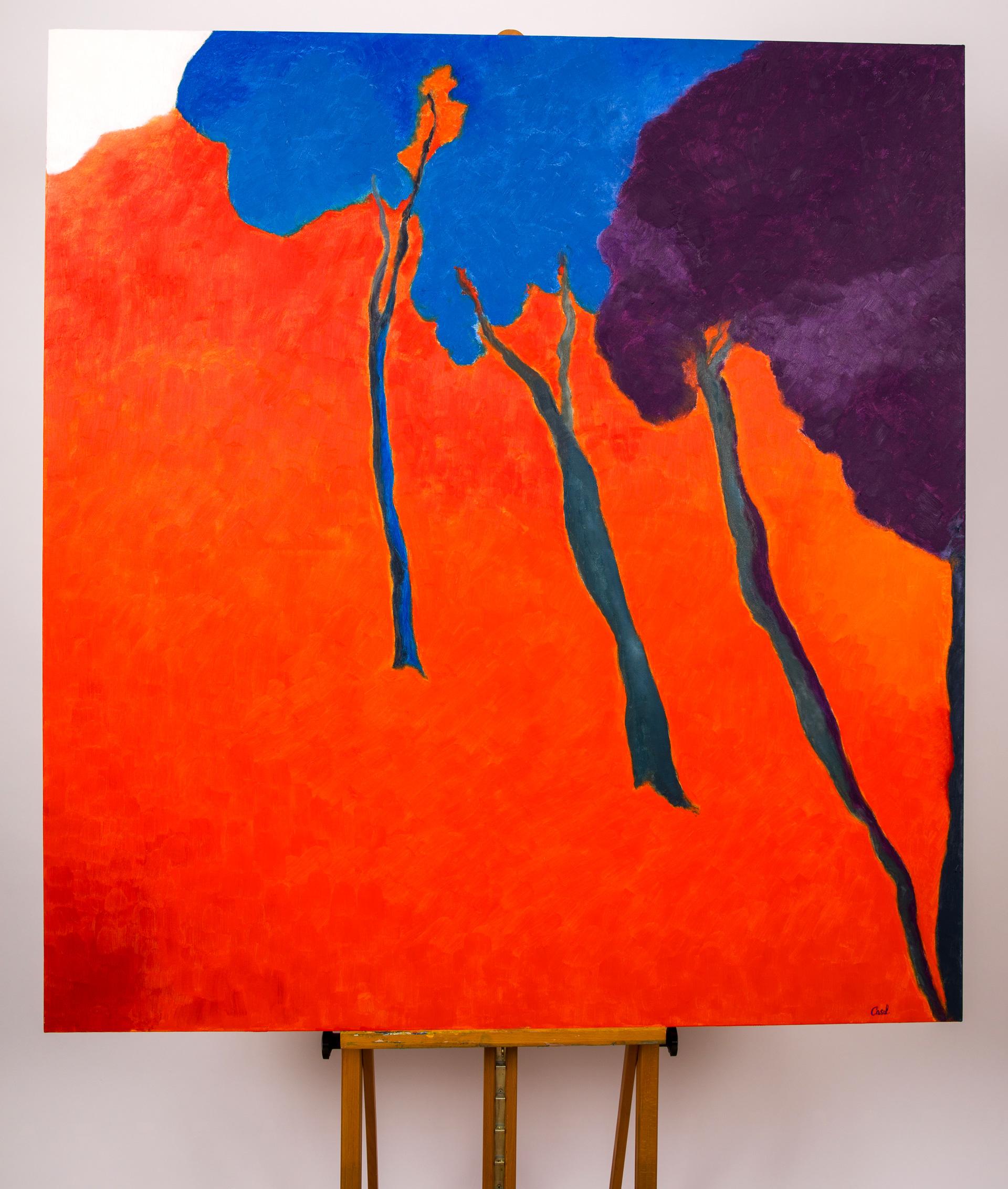 Maryse Casol, painting Ceci N'est Pas Un Arbre VI, 2011