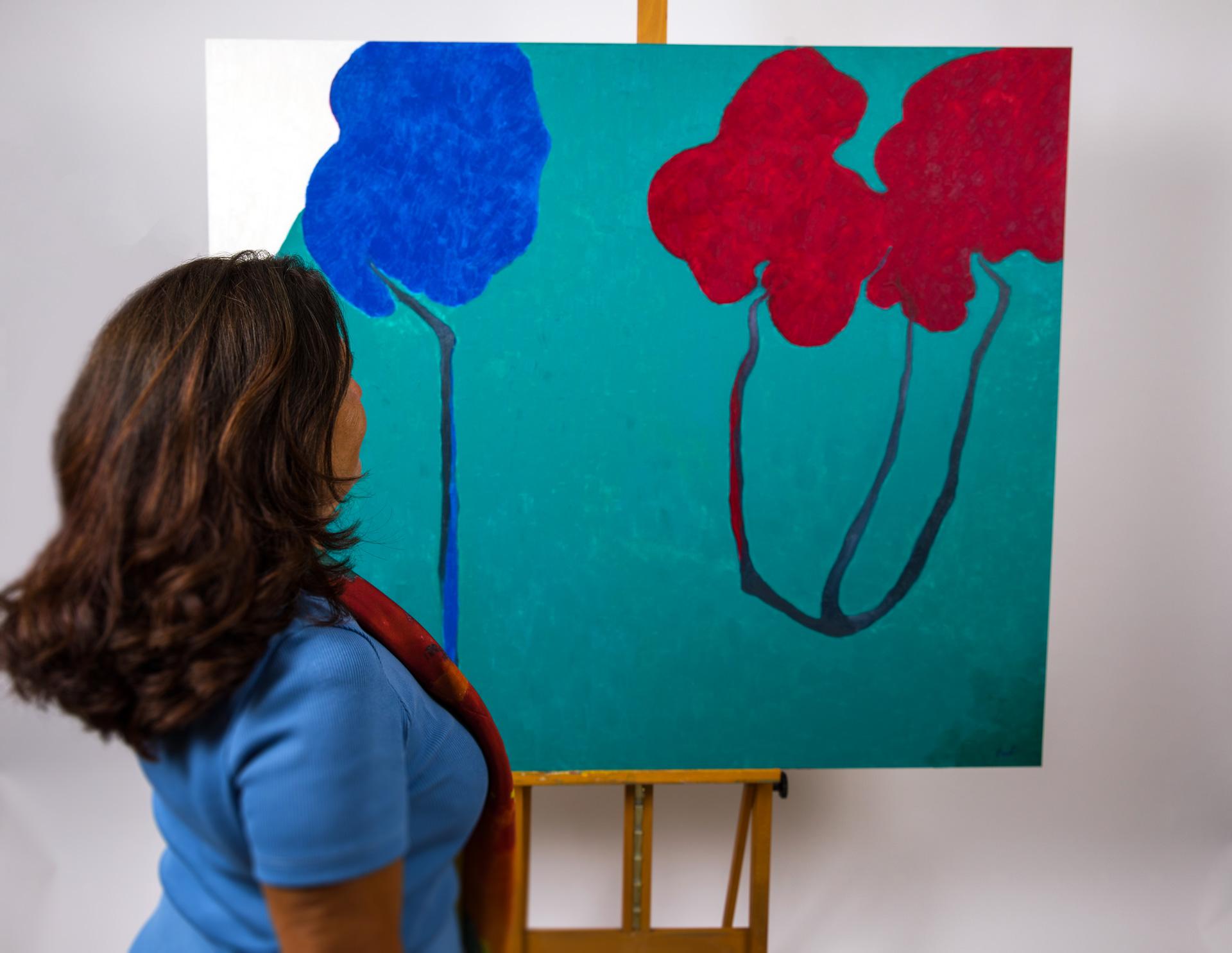 Maryse Casol, painting Ceci N'est Pas Un Arbre VIII, 2011