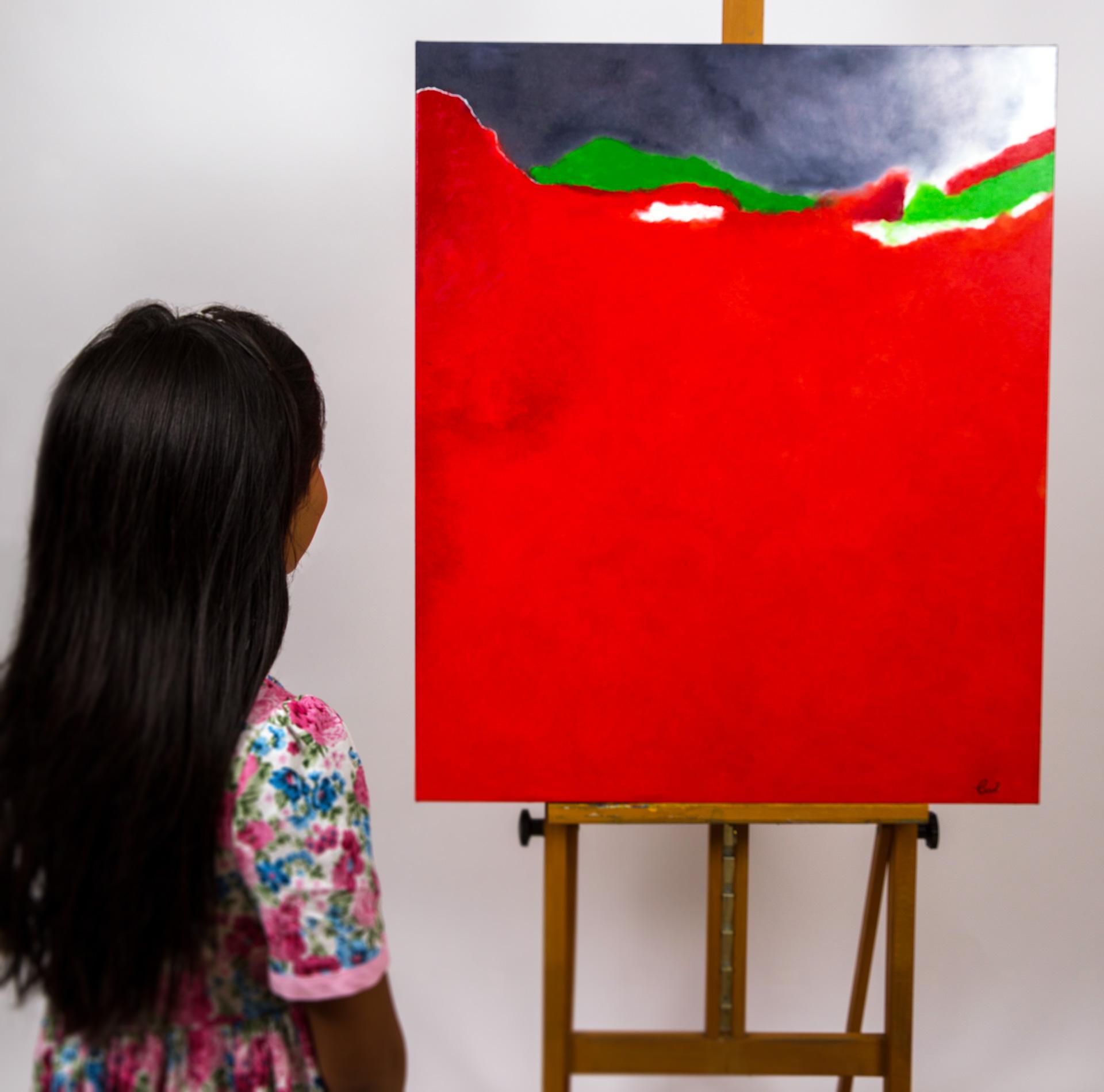 Maryse Casol, peinture Essence Poétique, Passion, 2020, Valentina Casol