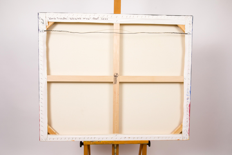 Maryse Casol painting Lumière Tourmaline back, 2016