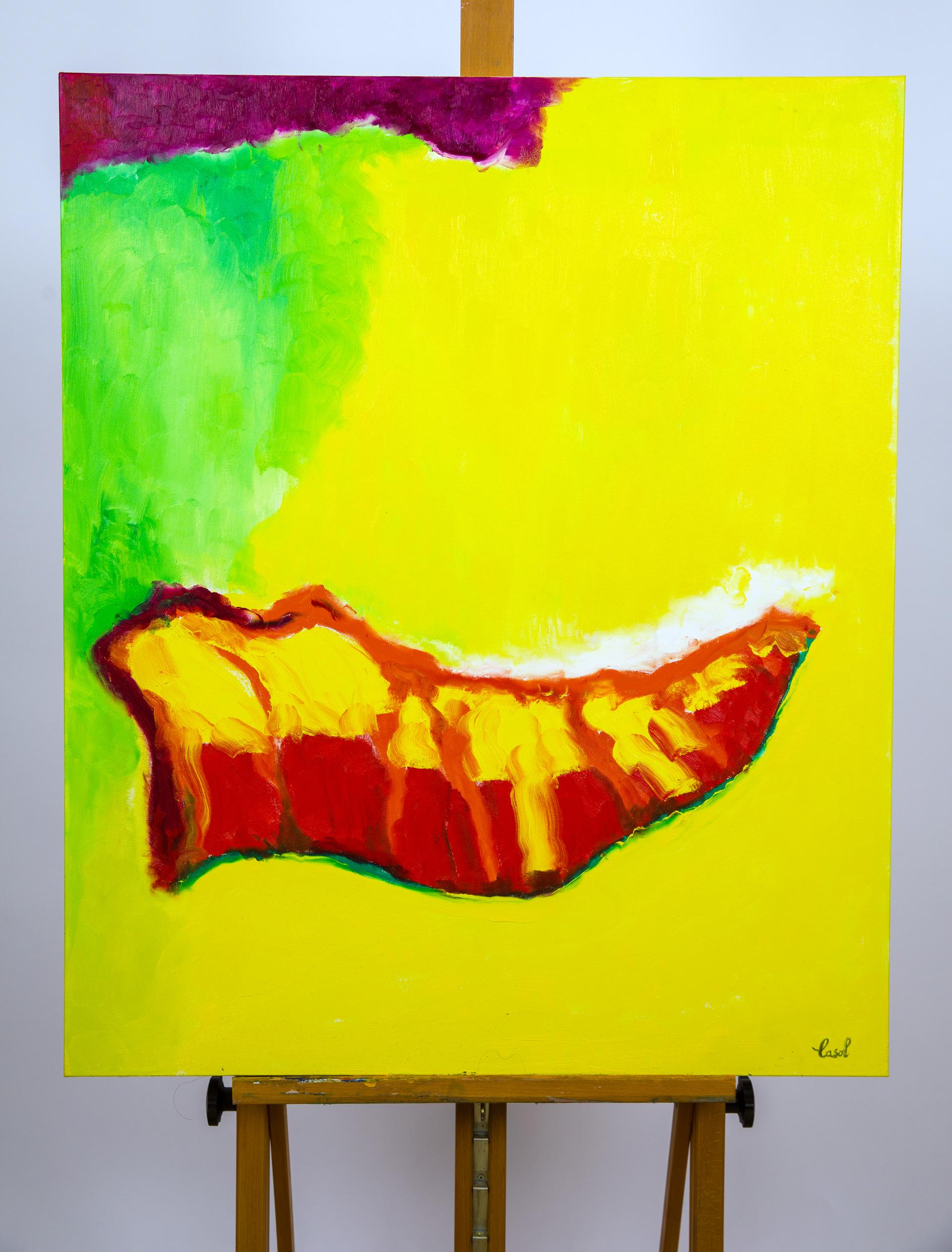 Maryse Casol, painting Ode à la Joie, 2019