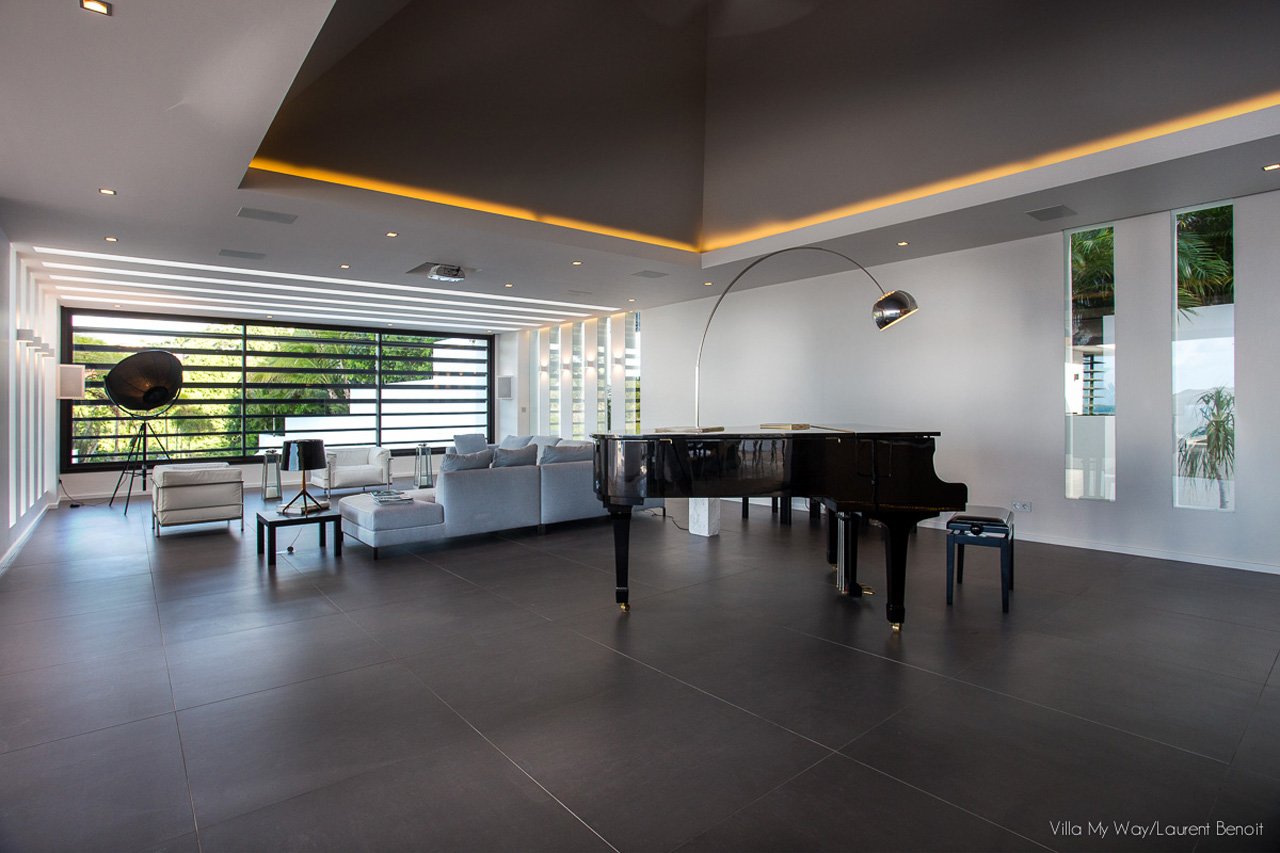 Grand Piano à la Villa My Way, St-Barth