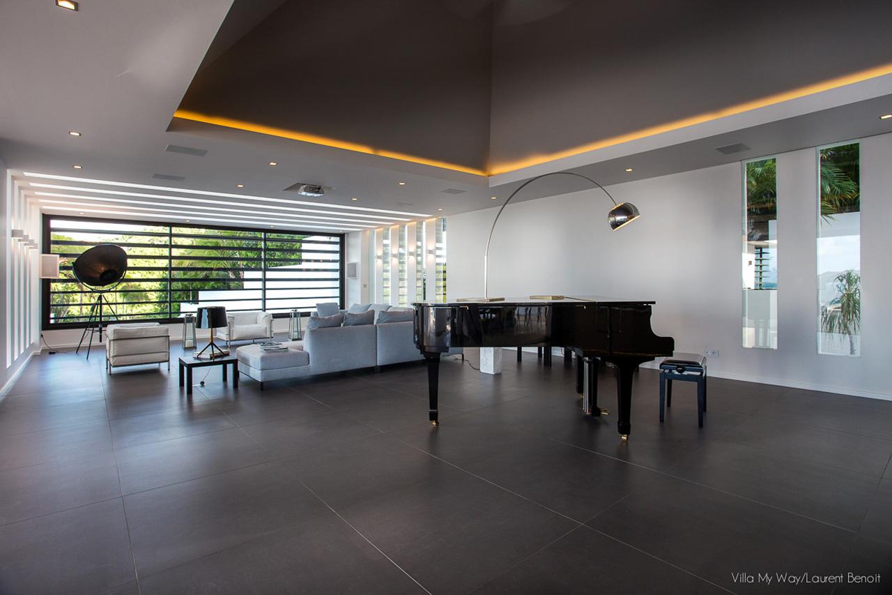 Grand Piano at Villa My Way, St-Barth
