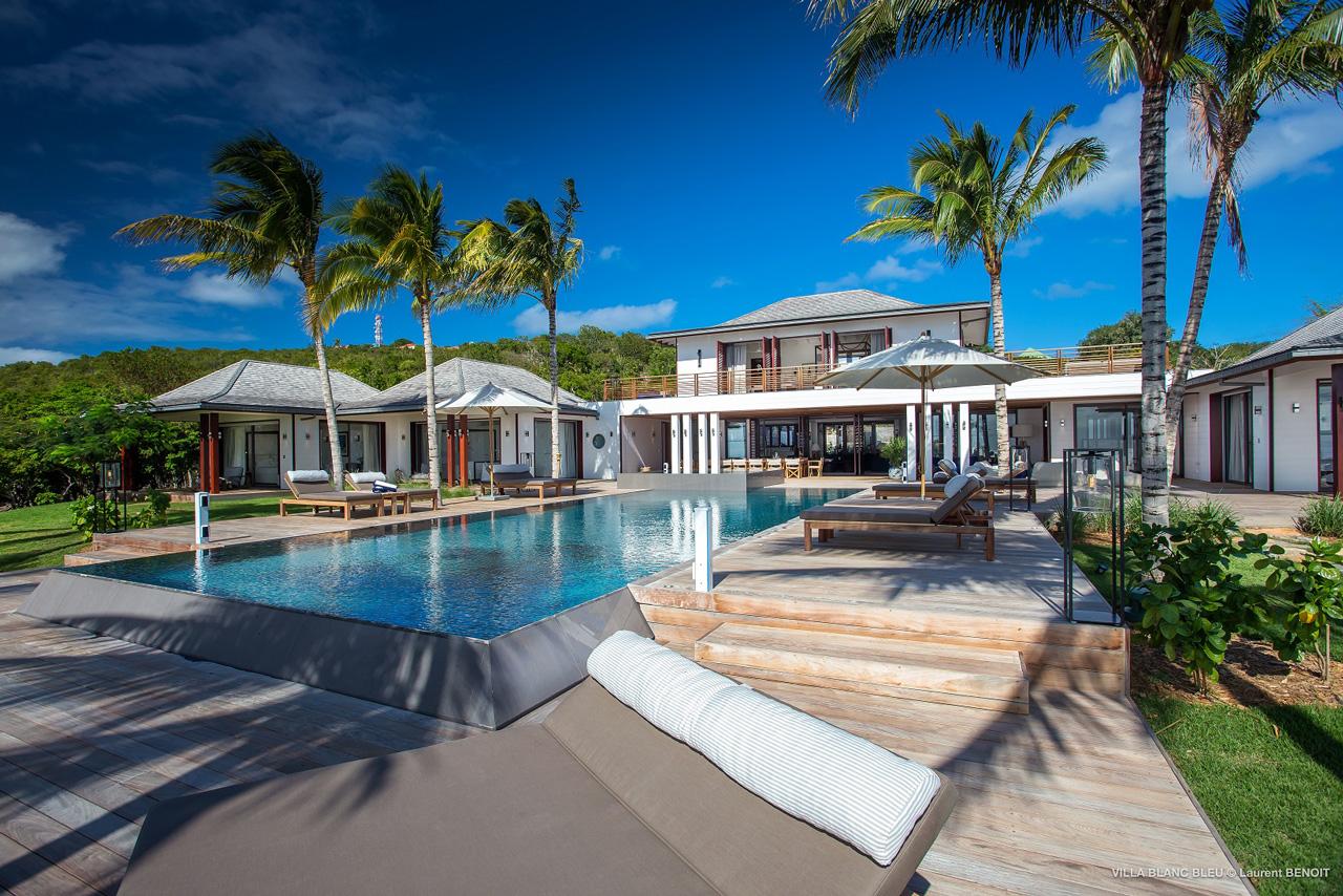 Maison Blanc Bleu, St-Barts, Caribbean