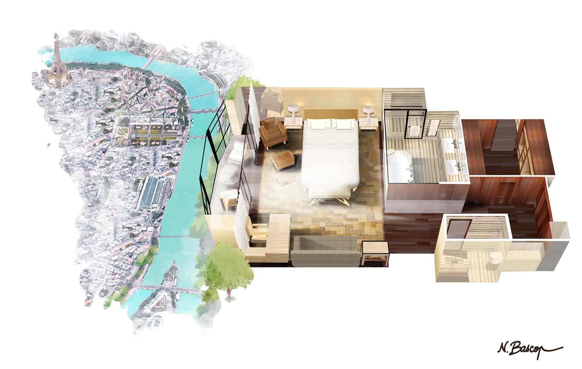 Cheval Blanc Paris, Hotel de luxe France, Seine Junior Suite, Casol