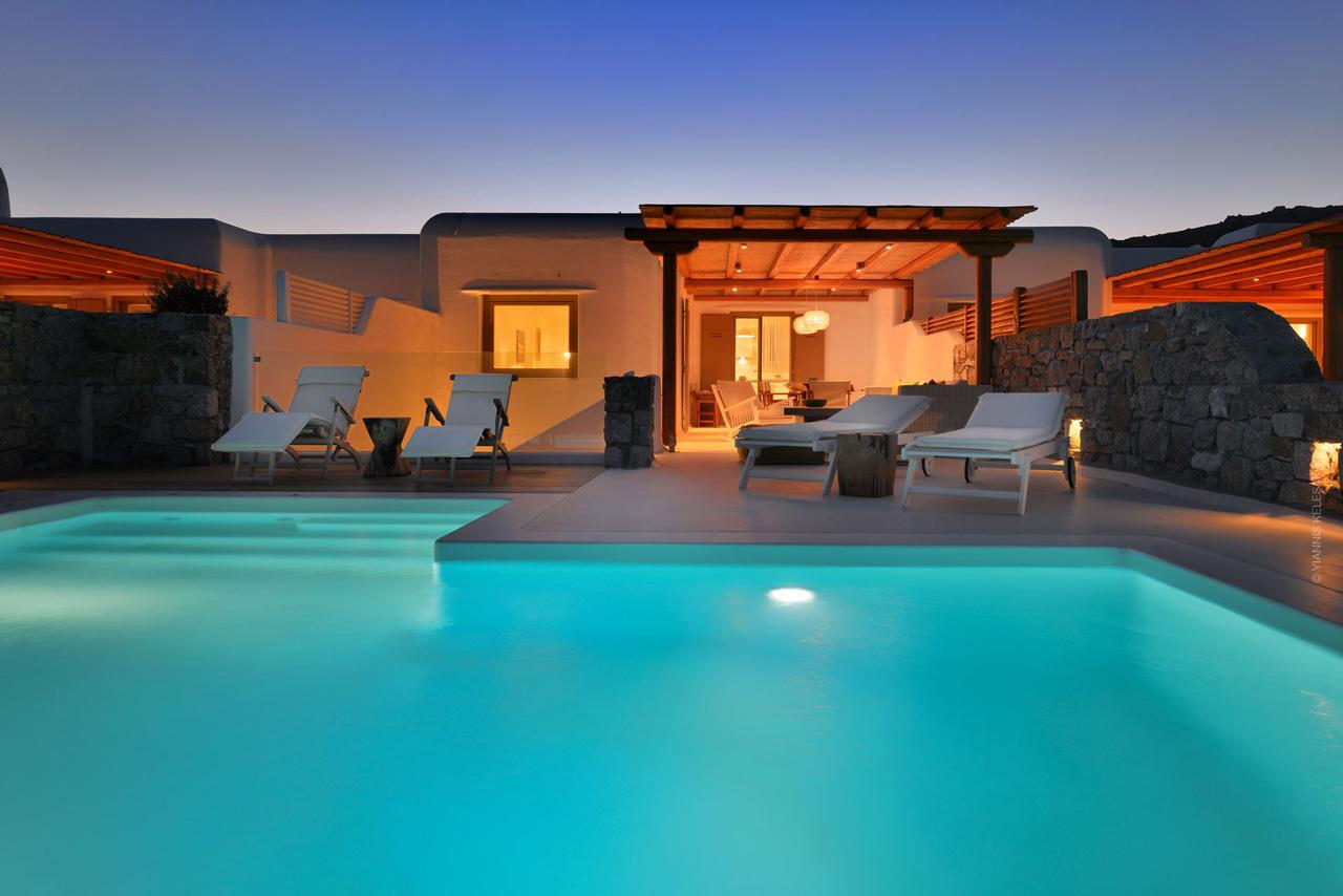 Villa Ginger Red, Elia Beach, Mykonos, Greece