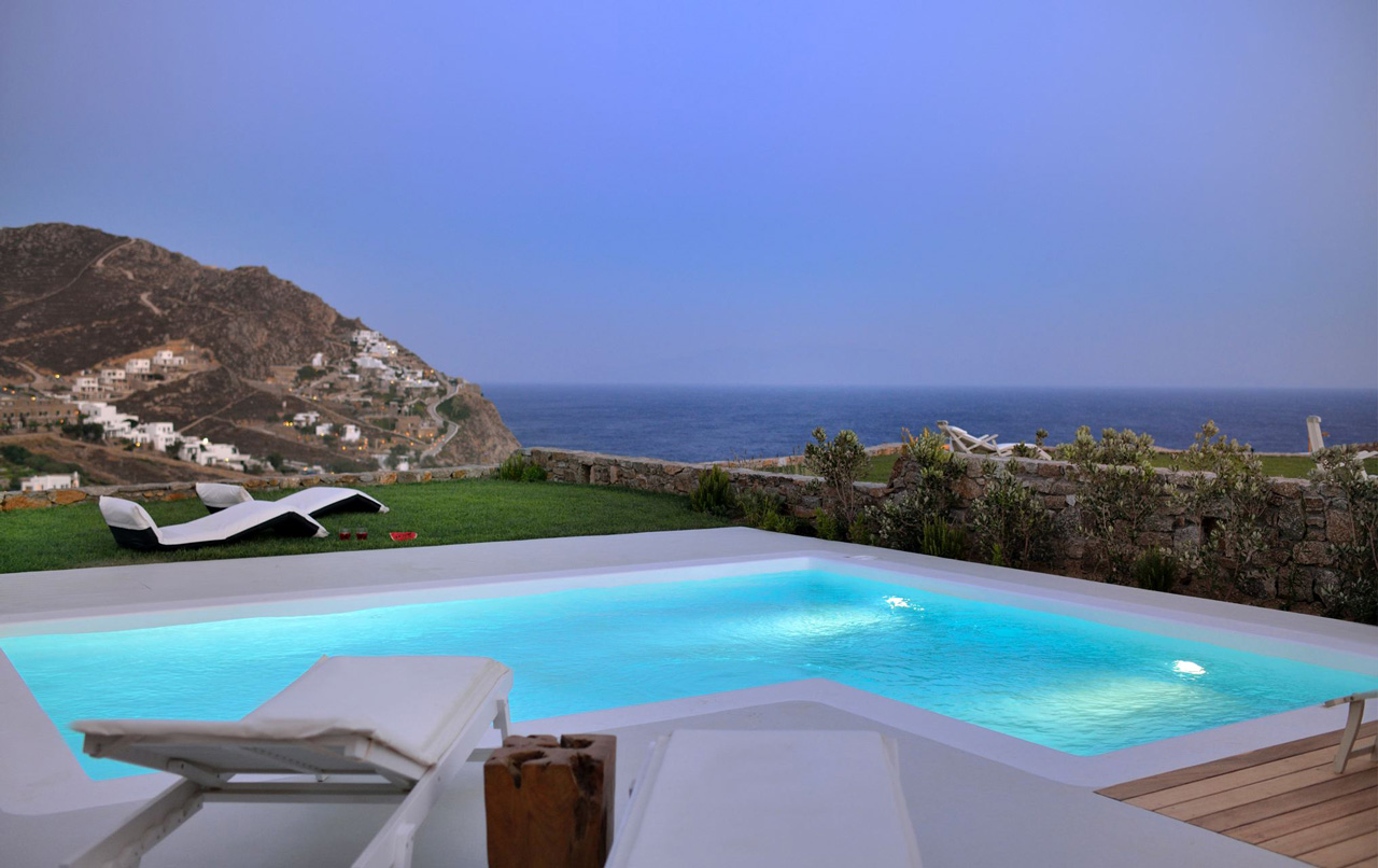 Villa Ginger Red, Elia Beach, Mykonos, Greece