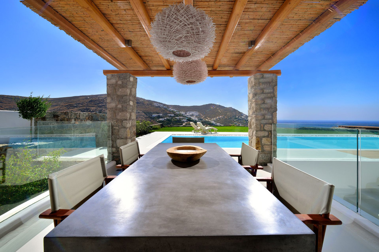 Villa Ginger White, Elia Beach, Mykonos, Greece