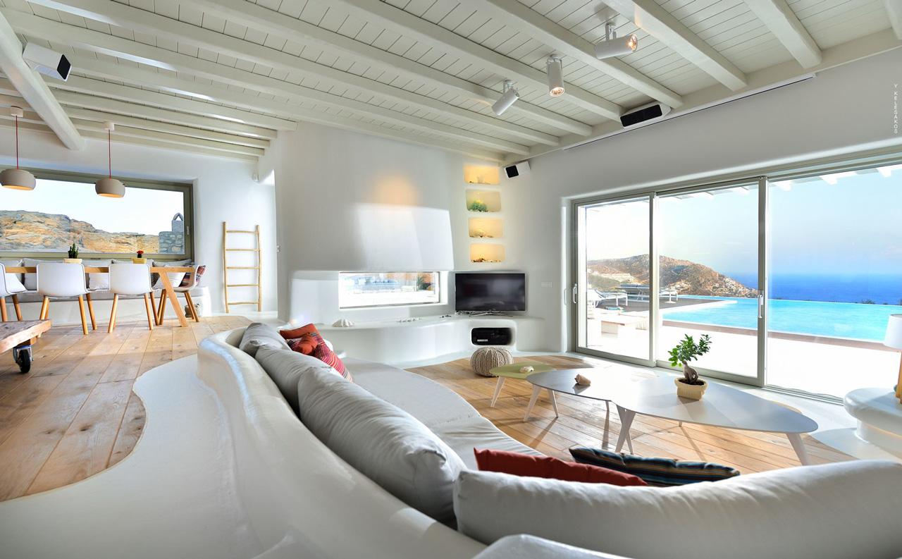Villa White Star, Elia Beach, Mykonos, Greece