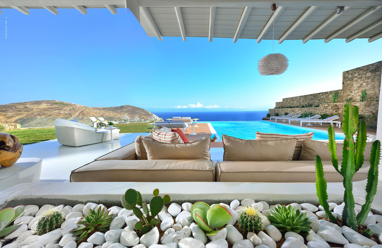 Villa White Star, Elia Beach, Mykonos, Greece
