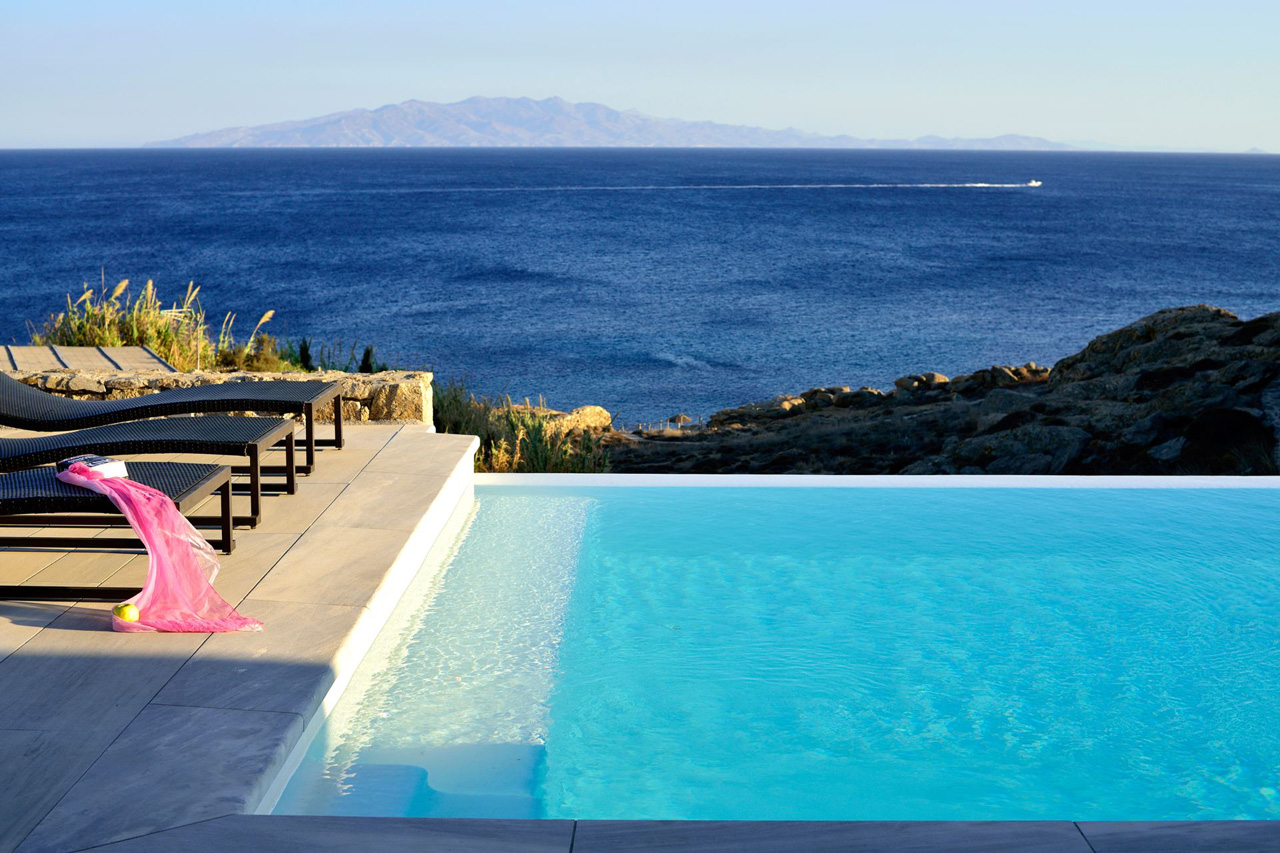 Villa White Rock Two, Lia Beach, Mykonos, Greece