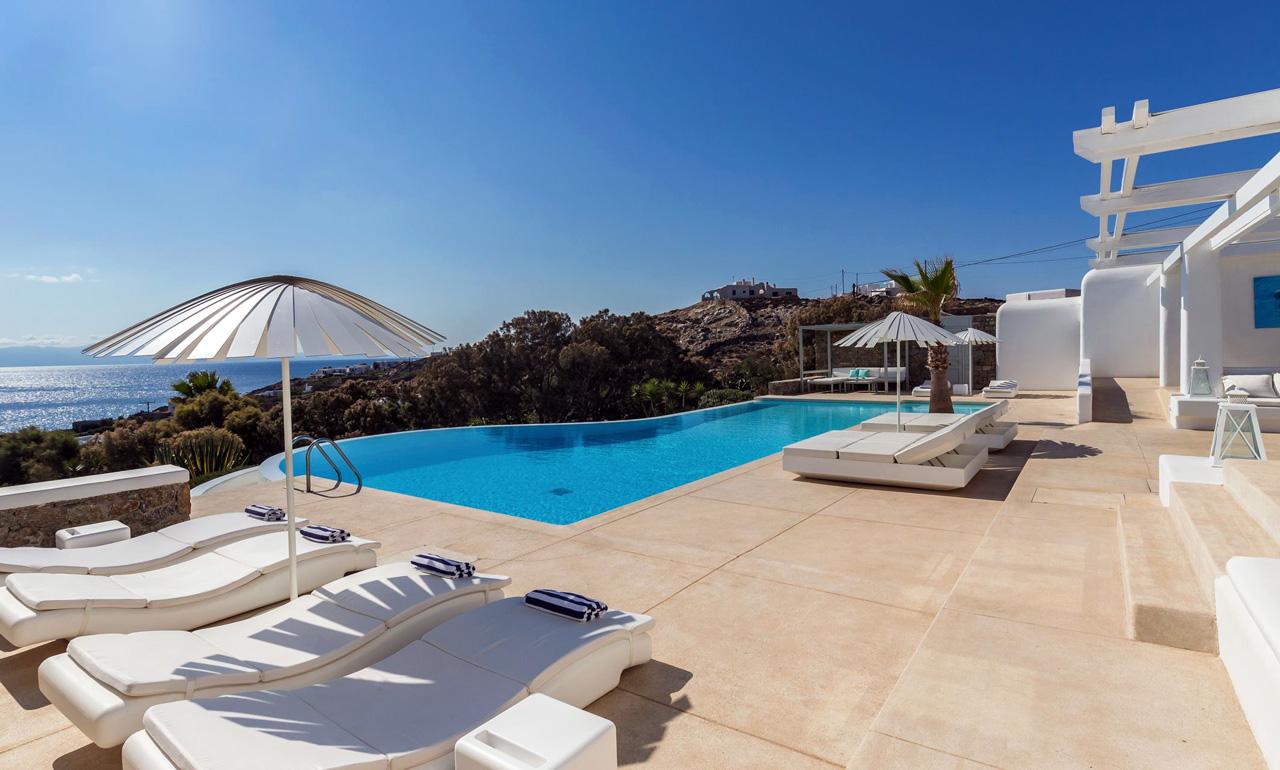 Best Island Beaches For Partying Mykonos St Barts: Villa Palmera, Ornos Beach, Mykonos / Casol Villas
