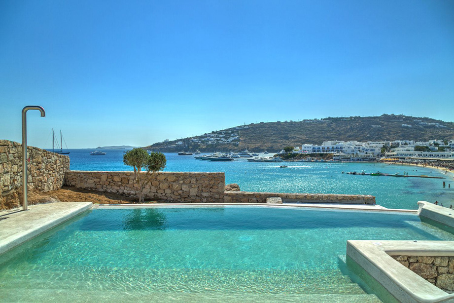 Villa for rent on Platis Gialos Beach, Mykonos